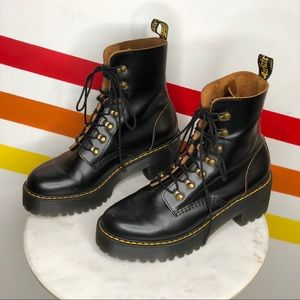 Dr. Martens Leona leather boots